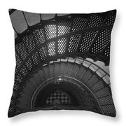 St. Augustine Lighthouse Spiral Staircase II Throw Pillow
