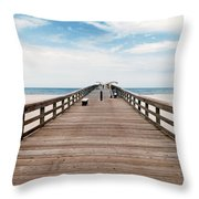 St. Augustine Pier Throw Pillow