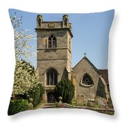St Bartholomew's Church - Moreton Corbet Throw Pillow