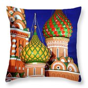 St Basils Cathedral In Moscow Russia Throw Pillow