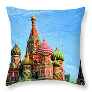 St. Basil's Cathedral Moscow Throw Pillow