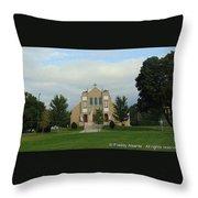 St. Basil's Church Utica, Ny Throw Pillow
