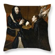 St Benedict Blesses The Bread Throw Pillow
