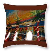 St Benedicts Painted Church 11 Throw Pillow