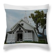 St Benedicts Painted Church 12 Throw Pillow