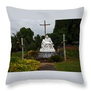 St Benedicts Painted Church 3 Throw Pillow