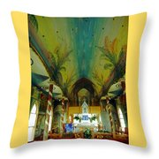 St Benedicts Painted Church 6 Throw Pillow
