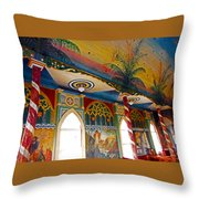 St Benedicts Painted Church 8 Throw Pillow