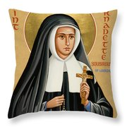 St. Bernadette Of Lourdes - Jcbsl Throw Pillow