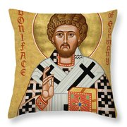 St. Boniface Of Germany - Jcbon Throw Pillow