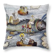 St. Brendan: Mass Throw Pillow