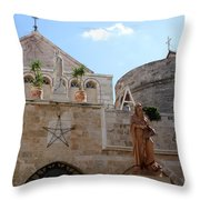 St Catherine Church Throw Pillow