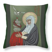 St Catherine Of Siena- Guardian Of The Papacy 288 Throw Pillow
