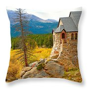 St. Catherine's Church In Autumn Throw Pillow