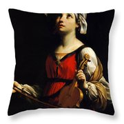 St Cecilia 1606 Throw Pillow