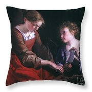 St. Cecilia And An Angel Throw Pillow by Granger