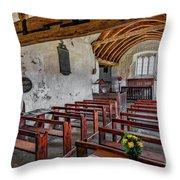 St Celynnin Church  Interior Throw Pillow