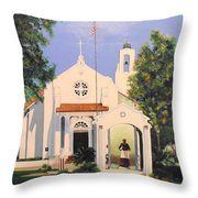 St. Charles Borromeo Church Throw Pillow