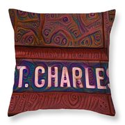 St Charles Line Throw Pillow
