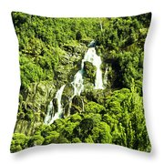 St Columba Falls Tasmania Throw Pillow