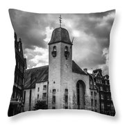 St Columba Throw Pillow
