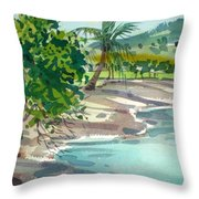 St. Croix Beach Throw Pillow