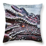 St Davids Day Dragon Throw Pillow