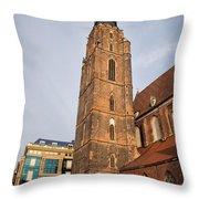 St. Elizabeth's Church Tower In Wroclaw Throw Pillow