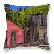 St. Elmo Pink House And Barn Throw Pillow