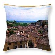 St. Emilion View Throw Pillow by Joan  Minchak