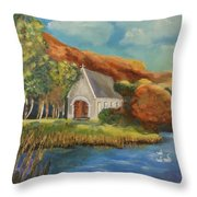 St. Finbarr's Oratory, Gougane Barra, Cork Throw Pillow