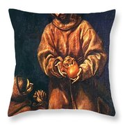 St Francis And Brother Rufus 1606 Throw Pillow
