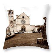 St. Francis Basilica, Assisi  Throw Pillow