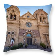 St. Francis Cathedral #2 Throw Pillow