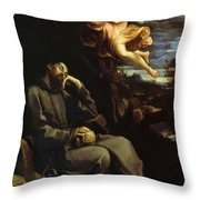 St Francis Consoled Throw Pillow