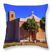 St. Francis De Assisi Adobe Church Throw Pillow