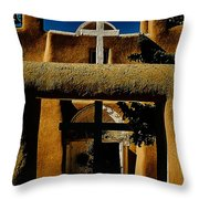 St. Francis Gate Throw Pillow