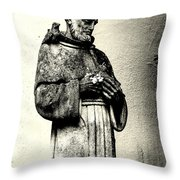 St. Francis In St. James Throw Pillow