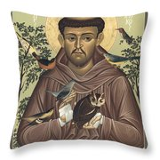 St. Francis Of Assisi - Rlfoa Throw Pillow