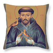 St. Francis Of Assisi - Rlfob Throw Pillow
