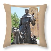 St. Francis Of Assissi Throw Pillow