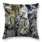 St Francis Statues Throw Pillow