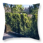 St. George Castle Throw Pillow