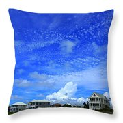 St. George Island Florida Throw Pillow