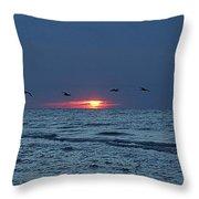 St. George Island Sunrise Throw Pillow