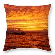 St. George Island Sunset Throw Pillow