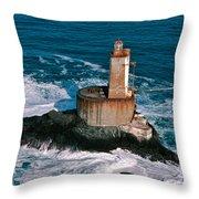 St. George Reef Light Throw Pillow