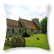 St George's Church At Arreton Throw Pillow by Rod Johnson