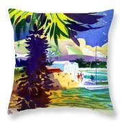 St. George's Harbour Throw Pillow