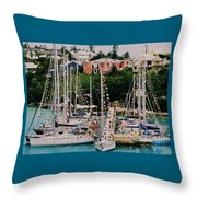 St. George's Yacht Club Bermuda Throw Pillow